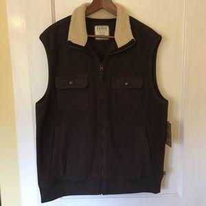 NWT Izod Luxury Sport Vintage Brown Vest